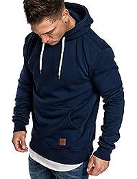 69b1801fbfa7 ShallGood Homme Sweatshirt Capuche Automne Manteau Hiver Chaud de Poche  Hooded Pull Hiver Chaud Sweats Épaisse