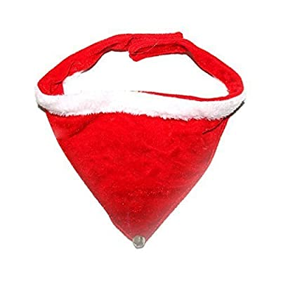 50cm Jingle Bell Christmas Dog Bandana Collar - Red
