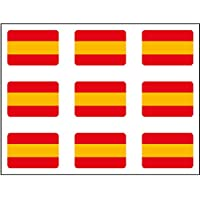 Artimagen Pegatina Bandera Rectángulo 9 uds. España 16x11 mm/ud.