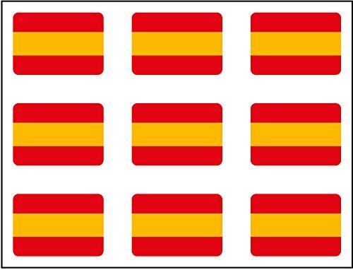 Artimagen Pegatina Bandera Rectángulo 9 uds. España