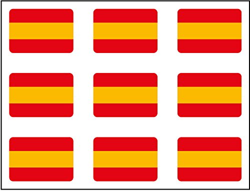 Artimagen Pegatina Bandera Trazos Espa/ña 4 uds 40x25 mm//ud.