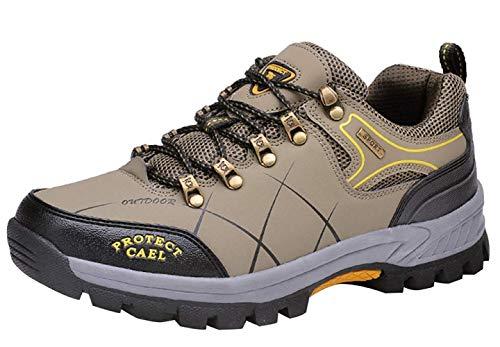 Fuxitoggo Männer Wanderschuhe Stiefel Leder Wanderschuhe Turnschuhe Für Outdoor Trekking Training Beiläufige Arbeit (Farbe : 9, Größe : 43EU)