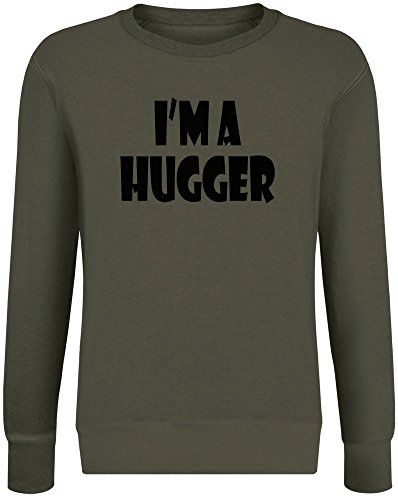 Ich Bin EIN Hugger - I`m A Hugger Sweatshirt Jumper Pullover for Men & Women Soft Cotton & Polyester Blend Unisex Clothing XX-Large -