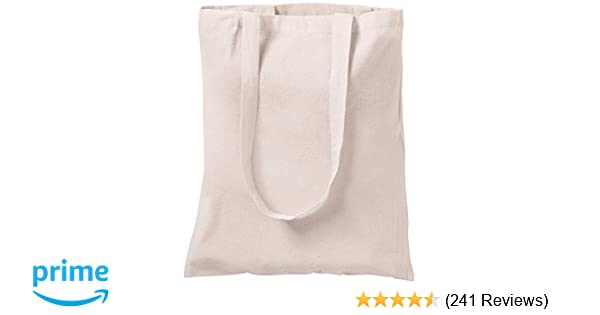 b0857c5c2 10 NATURAL COTTON TOTE BAGS SHOPPERS NATURAL: Amazon.co.uk: Luggage