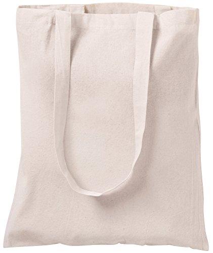 Bolsa tote de algodón natural