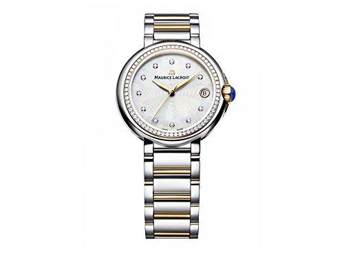 Maurice Lacroix Fiaba Round FA1004-PVP23-170 Reloj de Pulsera para mujeres con diamantes genuinos