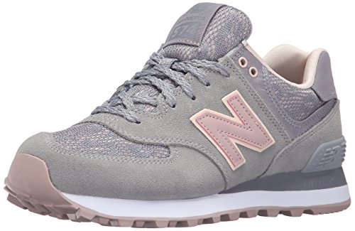 New Balance Women's WL574 Nouveau Lace Pack Running Shoe Steel/Charm