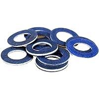 InisIE 10pcs de Coches de Aceite Tapón de Drenaje Juntas 90430-12031 para Toyota 4Runner / Avalon/Camry / Celica