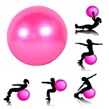 JERN Anti-Burst Fitness Exercise Stability Yoga Ball/Gym Ball (Pink, 85 cm)