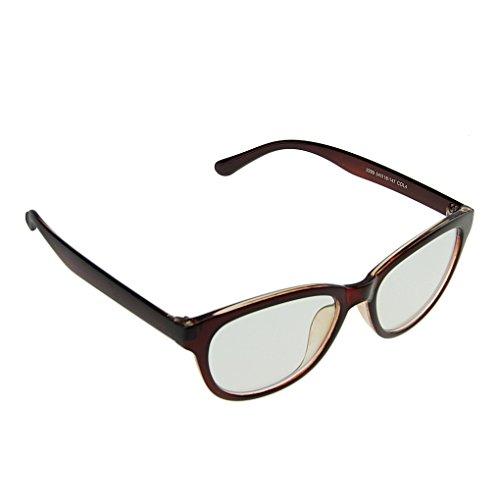 Liying Unisex floreale Occhiali, Lenti Plain Occhiali Protezione dalle Radiazioni COMPUTER per antiriflesso protezione degli occhi Occhiali Occhiali Leopard Taglia unica