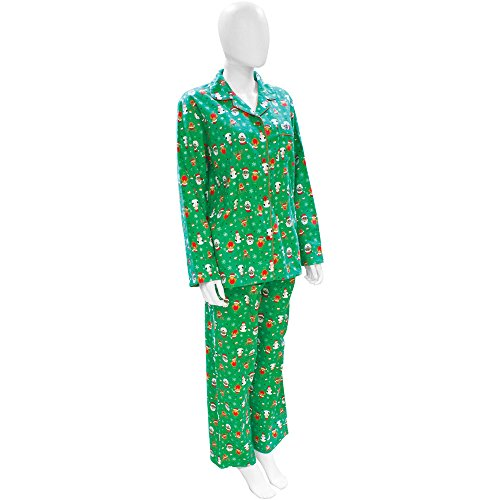 Outdoor Look Christmas Womens/Ladies Festive Santa and Rudolph Pyjamas