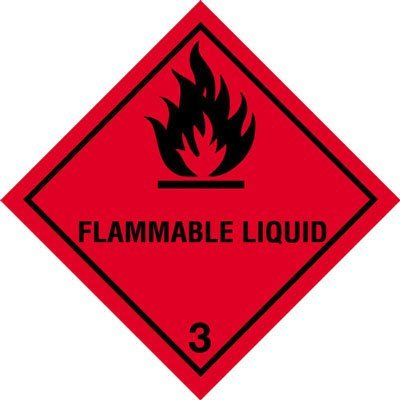 Hazard Diamond Label Sticker - Class 3 Flammable Liquid Sign by Perfect Safety Signs (Flammable Liquid-label)