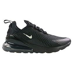 Nike Herren Air Max 270 Leichtathletikschuhe, Mehrfarbig (Black/Chrome/Pure Platinum/Anthracite 1), 44.5 EU