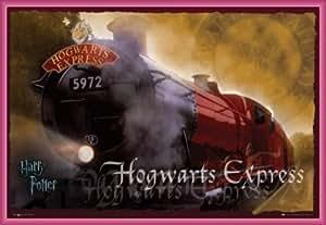 1art1Poster Harry Potter Hogwarts Express 597291x 61cm, Cadre Plastique, Pink, 91 x 61 cm