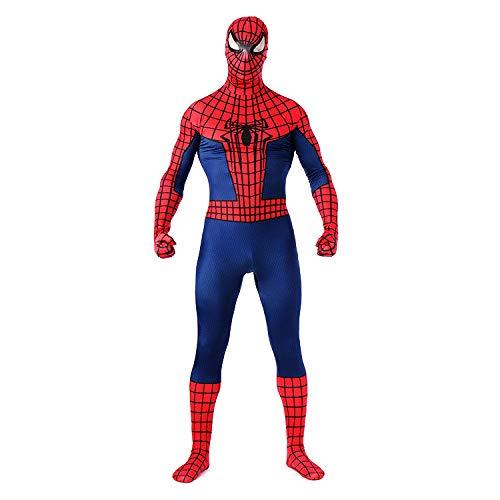 ASJUNQ League of Legends Rollenspiel-Strumpfhosen Spider-Man-Anzug Vollmantel Einteiliger Anzug Korsett Halloween-Kostüm Ballrequisiten,Adult-S