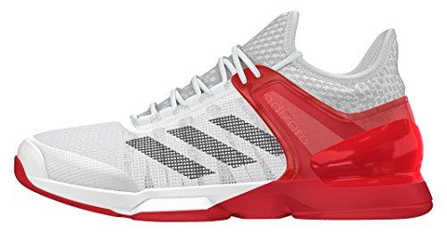 adidas Adizero Ubersonic 2, Scarpe da Tennis Uomo, Bianco (Blanco (Ftwbla / Negbas / Rojray)), 40 EU