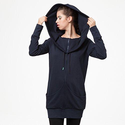 THOKKTHOKK TT1013 Yuki Zipjacket Eclipse Woman aus 100% Biobaumwolle hergestellt // GOTS & Fairtrade Zertifiziert, Größe:S/M - 2