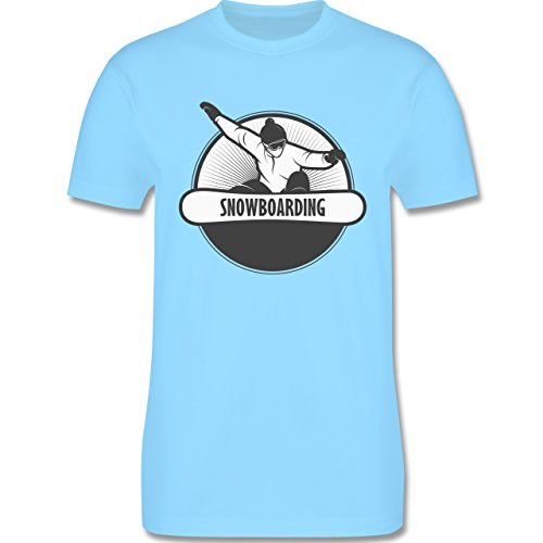 Wintersport - Snowboard Fun - Herren Premium T-Shirt Hellblau