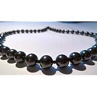 Boviswert Schungit Halskette, 56cm, 53 g, mit 8mm Perlen, mit Zertifikat. preisvergleich bei billige-tabletten.eu