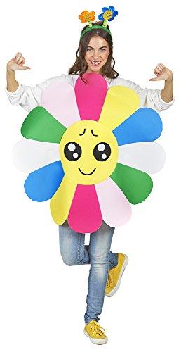 Blümchen-Kostüm in bunt | Einheitsgröße Erwachsene | Blumen-Kostüm