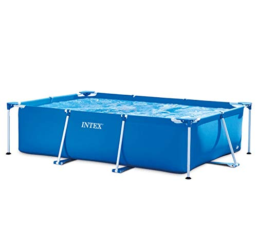 DMMDHR Rectangular Frame Fish Pool Blue Environmentally PVC Family Swimming Pool Funny Water Sports Equipment 260*160*65cm