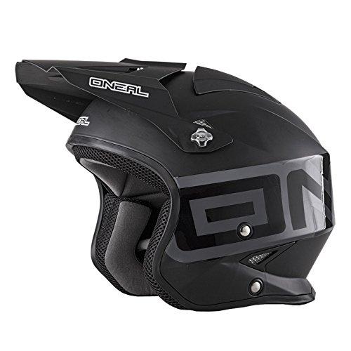 0806-103 - Oneal Slat Solid Trials Helmet M Black