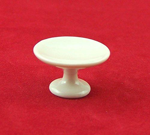 Preisvergleich Produktbild Miniatur Kuchenteller, Tortenteller für Puppenhaus. 1:12. Aus Kunststoff, weiß