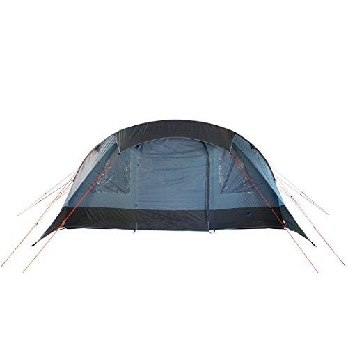 10T Camping-Zelt Kallisto 6 aufblasbares AirTube Tunnelzelt mit Schlafkabine für 6 Personen Outdoor Familienzelt mit Wohnraum, eingenähte Bodenwanne, Sonnendach Aufstellstangen, wasserdicht mit 5000mm Wassersäule inkl. Pumpe -