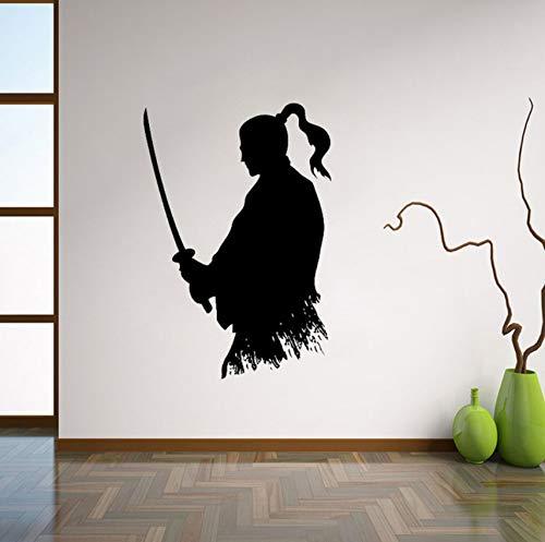 Wandtattoo Ninja Vinyl Aufkleber Japanischen Wohnkultur Ideen Wohnzimmer Interieur Wandkunst Schlafzimmer Wanddekor 56x82 cm