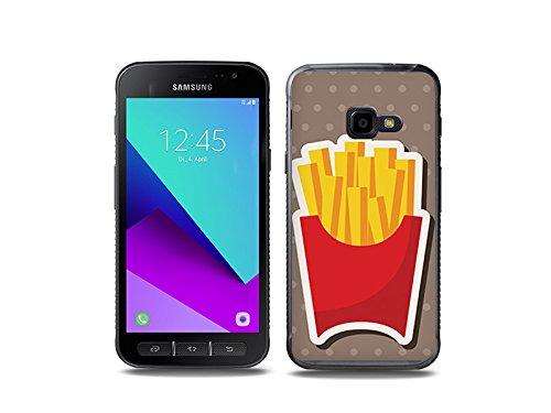 etuo Handyhülle für Samsung Galaxy Xcover 4 Handyhülle Schutzhülle Etui Hülle Case Cover Tasche für Handy Fantastic Case - Pommes Frites