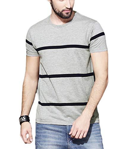 Veirdo Men's Cotton T-shirt (Grey, XL)