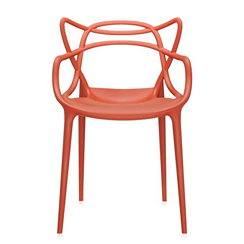 Master Dining Chair in Rust Orange by Kartell