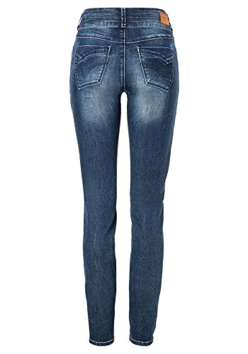 Timezone Damen Jeans Slim Enya Womenshape Blau (Blue Patriot Wash 3624)