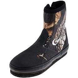 FLAMEER Impermeable Zapatos Botas de Pesca Antideslizantes Trekking RIO de goma para proteger - Camuflaje, 10