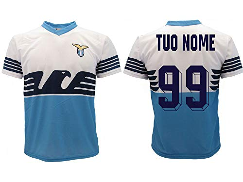 Maglia Lazio Ufficiale Personalizzata 2018/2019 SS Lazio Adulto Bambino Nome e Numero a Scelta Personalizzabile (10 Anni)