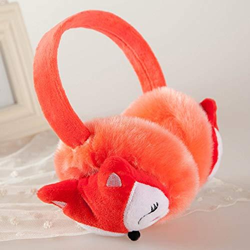 Huikafir Cute Fox Muffs Plüsch Ohrenwärmer Winter Outdoor Soft Plüsch Cover Earmuffs für Kinder (Orange) Fox Muff