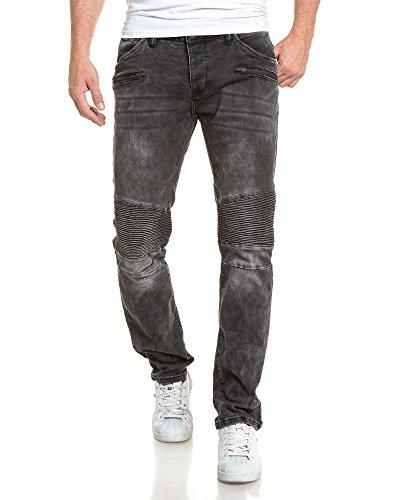 Deeluxe 74 - Jean grau Mann getragen gerippt und taillierter Schnitt Grau