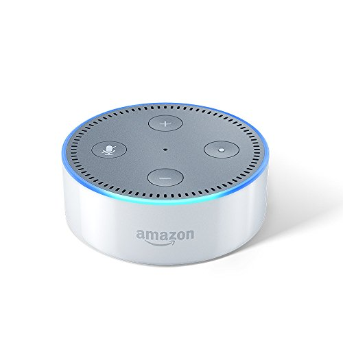 Echo Dot - Voice control your music, Get news, weather & more (Includes 1 Year Prime Membership) - White