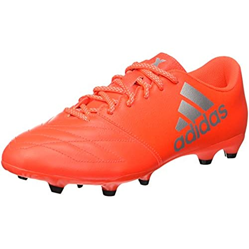 adidas Herren X 16.3 Fg Leather Fußball-Trainingsschuhe, Multicolore (Solred/Silvmt/Hirere), 42 EU