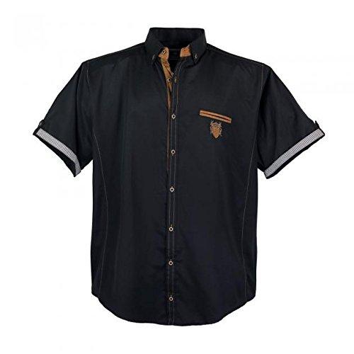 Lavecchia moderno uomo camicia a maniche corte in nero nelle misure: 3x l 7x l