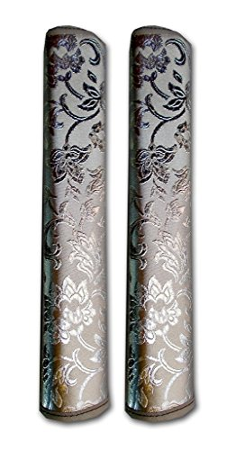 AJ Creations Multi-Purpose Refrigerator Door Handle Covers - 1 Pair (Silver)