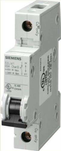 Preisvergleich Produktbild Siemens 5sj41067hg40Miniatur Leitungsschutzschalter, UL 489, 1Pole Breaker, 6Ampere die maximale, stolpern charakteristische C, DIN-Schiene montiert, Typ HSJ Shorts, 240VAC, 60VDC