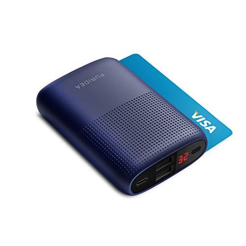 Carlcoo 10000mAh Powerbank, Puridea Batteria Esterna per Cellulare Portatile (2 Puertos, LCD Indicada) Power Bank para iPhone 7/6/6s/6 plus/6s plus, iPad, Android, Tablet - Blu