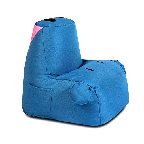 Faule Couch Faule Sitzsack-Sofa-EPS-Partikel-Sofasack, einzelner Netter Schwein-Boden-Gaming-Sofa-Stuhl mit Tasche und Griff, Farbe wahlweise freigestellt (Farbe : Denim Blue)