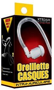 Xtream Wearther Air Tube Oreillettes intra-auriculaire en Silicone pour Haut Parleur GPS 1,1 m Translucide