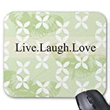 Butterfly Inspirations Live Laugh Love Mouse Pad Rectangle Non-Slip Rubber Personalized Mousepad Gaming Mouse Pads