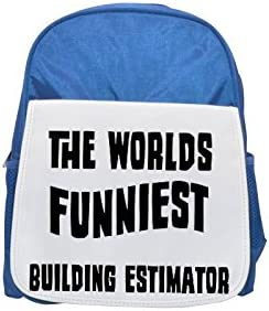 THE WORLD'S FUNNIEST Building Estimator printed kid's Bleu  backpack, Cute backpacks, cute small backpacks, cute Noir  backpack, cool Noir  backpack, fashion backpacks, large fashion backpacks, Noir  f | De Qualité