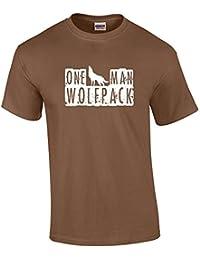 One Man Wolfpack Ladies Vest - Brown - Large