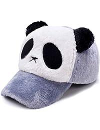ZYLL Boy Girl Ajustable Panda Béisbol Sombrero Invierno a Prueba de Viento Cálido  Sombrero para niños eedcbb52fab