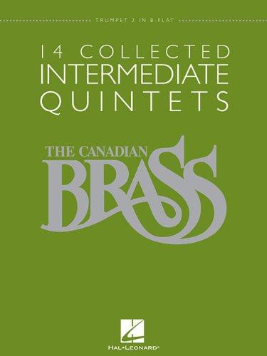 14 Collected Intermediate Quintets: Trumpet 2 in B-flat